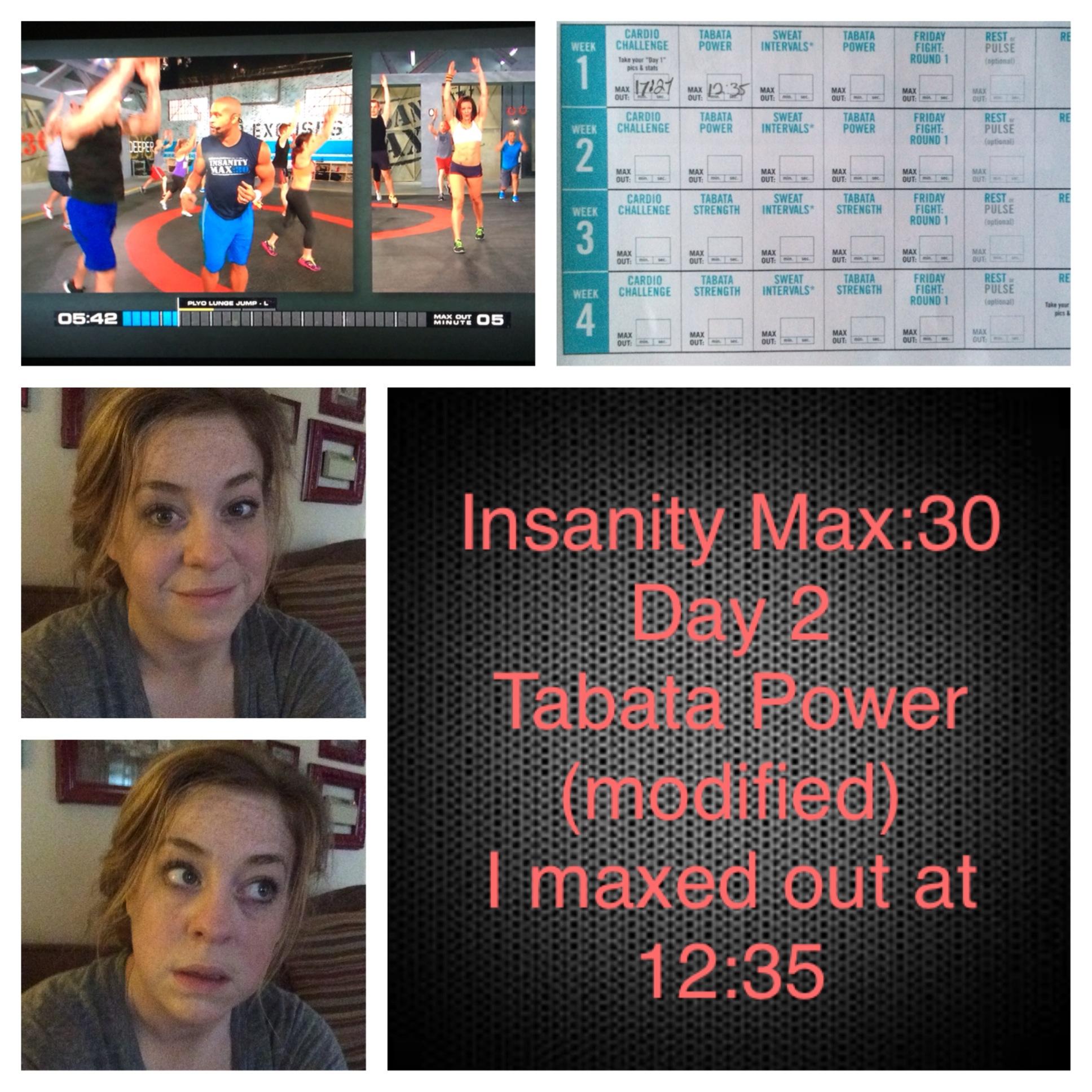 Insanity Max:30 Week 1, Modified   Lifestylist Fitness